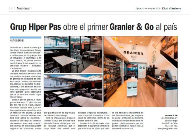 Granier & Go a Diari d'Andorra