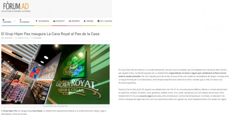 La Cava Royal al Fòrum